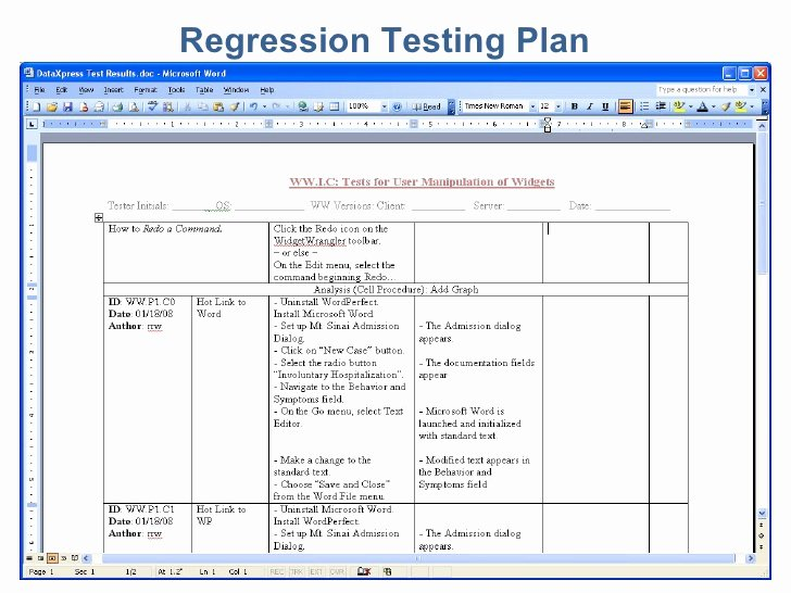 Simple software Test Plan Template