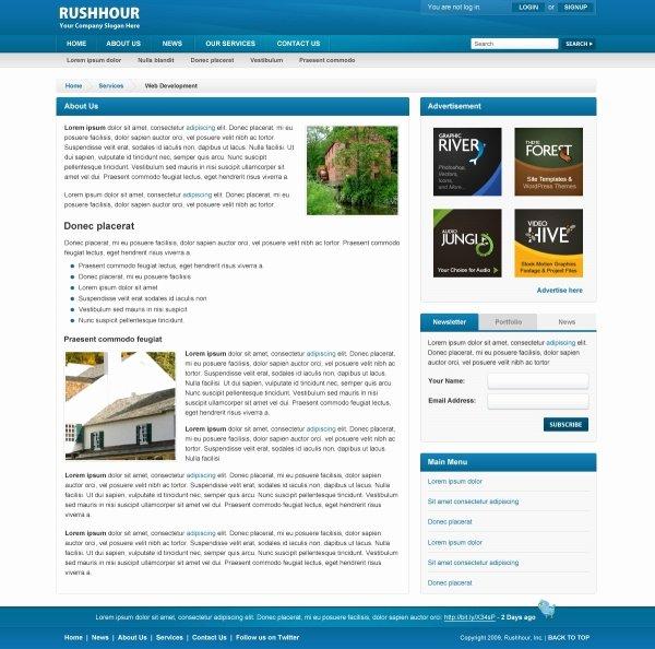 Simple Web Design Psd Template