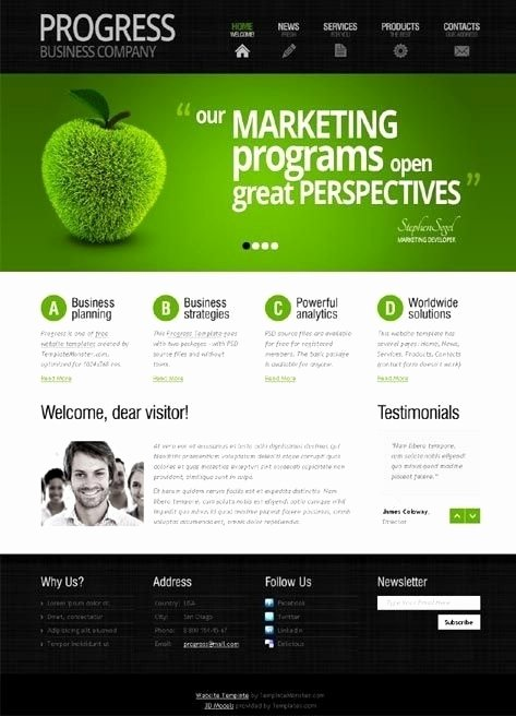Simple Website Template Design Beepmunk