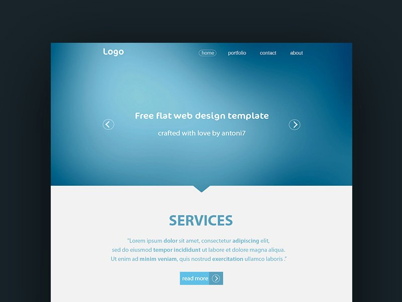 Simple Website Template Freebie Download Shop