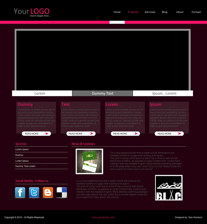Simple Website Template – Over Millions Vectors Stock