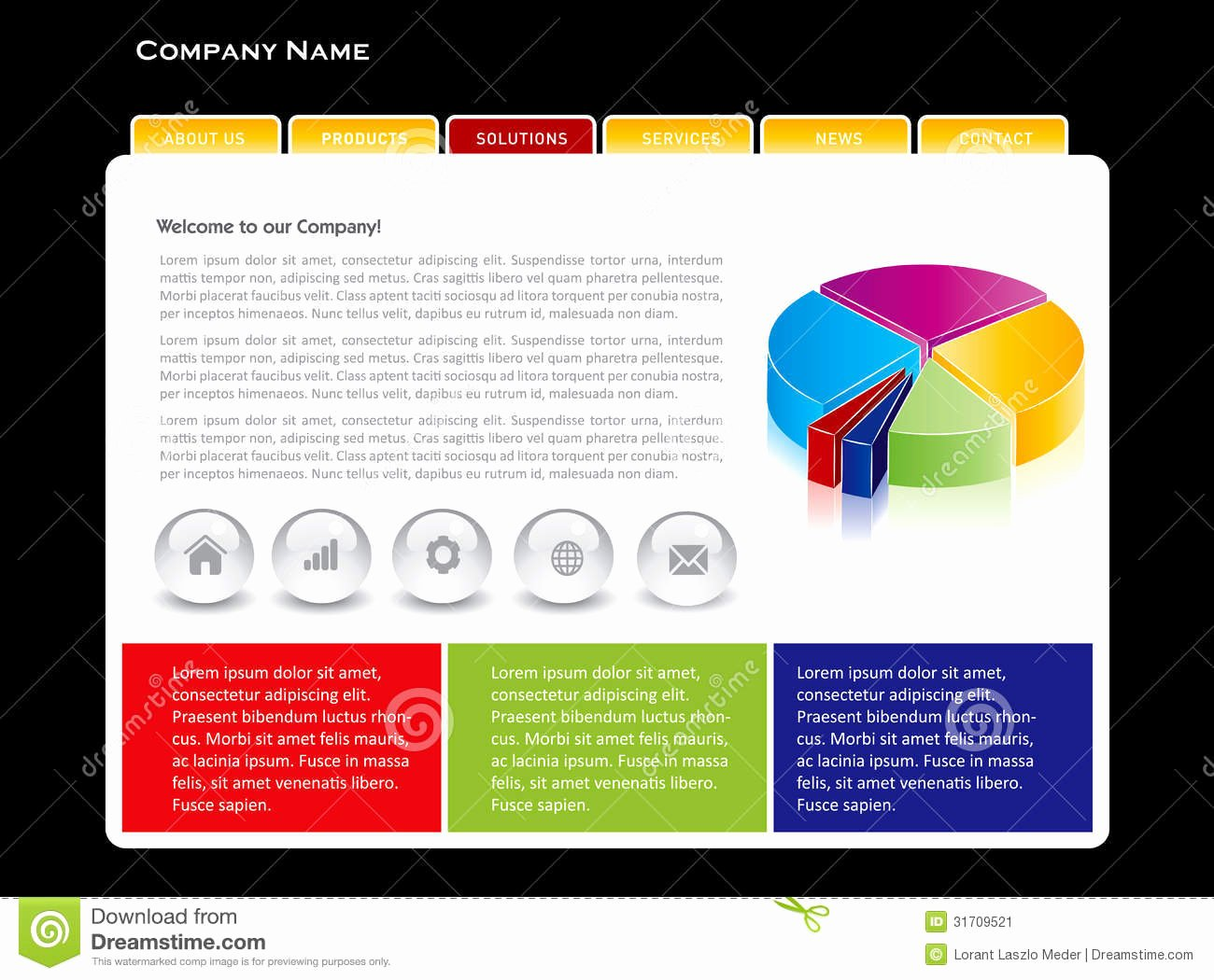 Simple Website Template Stock Image Image