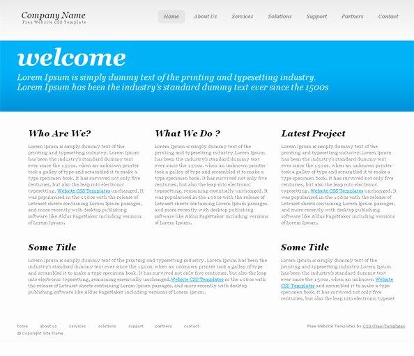 Simple Website Templates