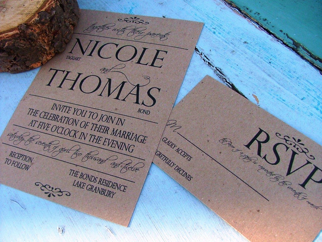 Simple Wedding Invitation Card Template Matik for
