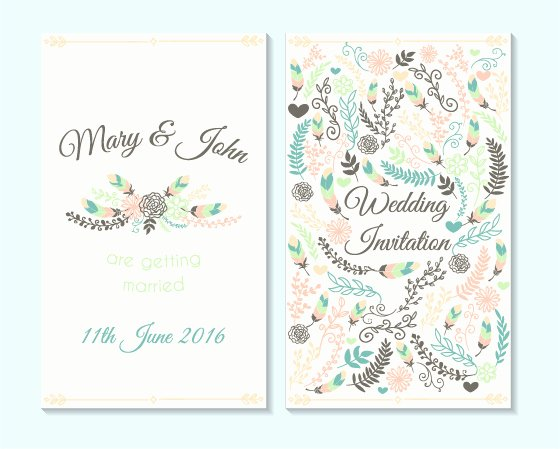 Simple Wedding Invitation Cards Template Matik for