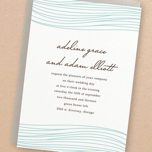 Simple Wedding Invitation Templates Wedding and Bridal
