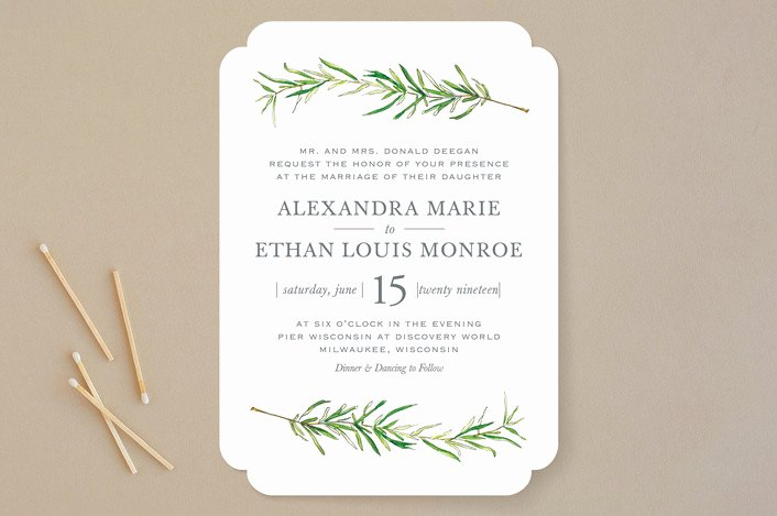 Simple Wedding Invitations Simple Wedding Invitations for