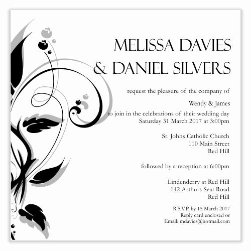 Simple Wedding Invitations Template