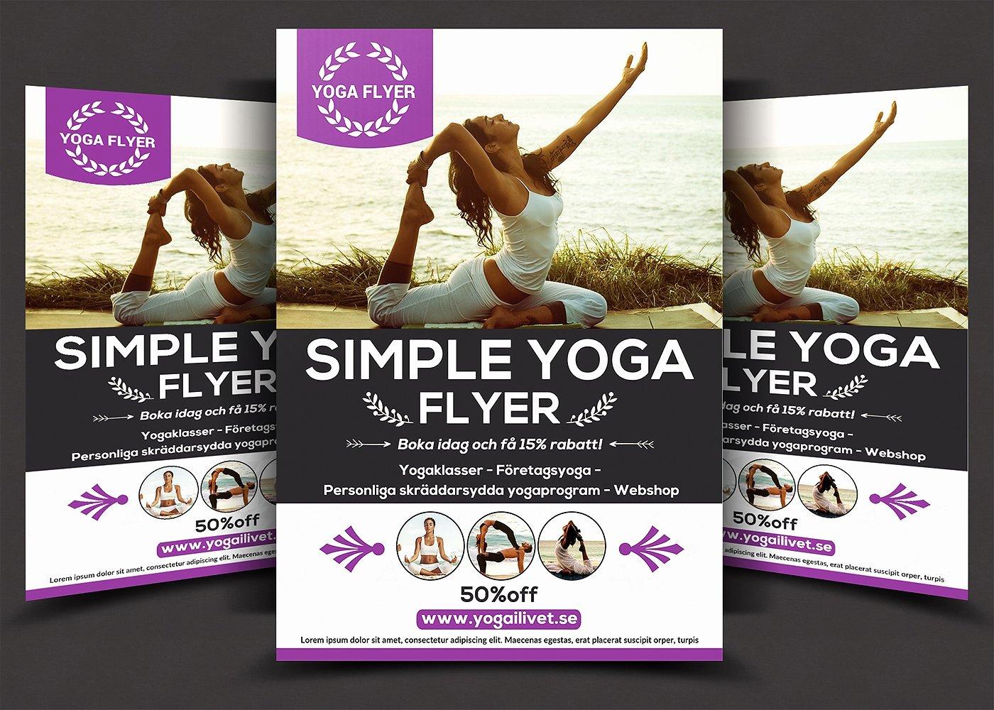 Simple Yoga Flyer Flyer Templates Creative Market
