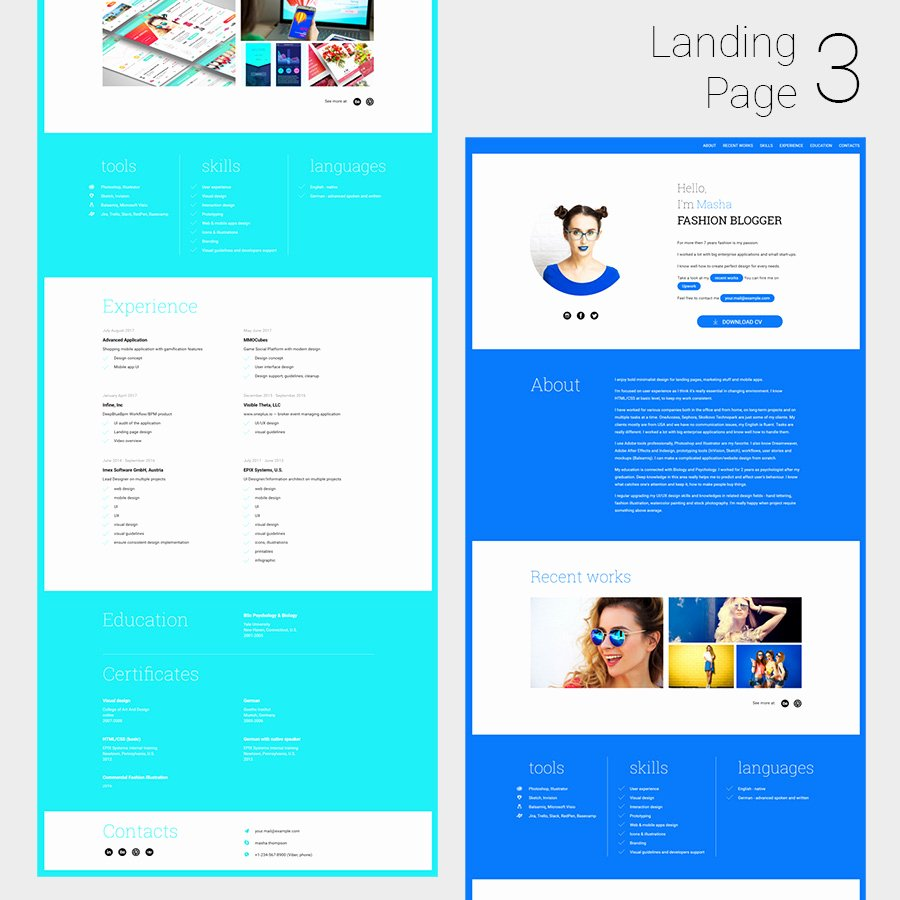 Simplecv Animated Responsive Cv and Resume HTML5