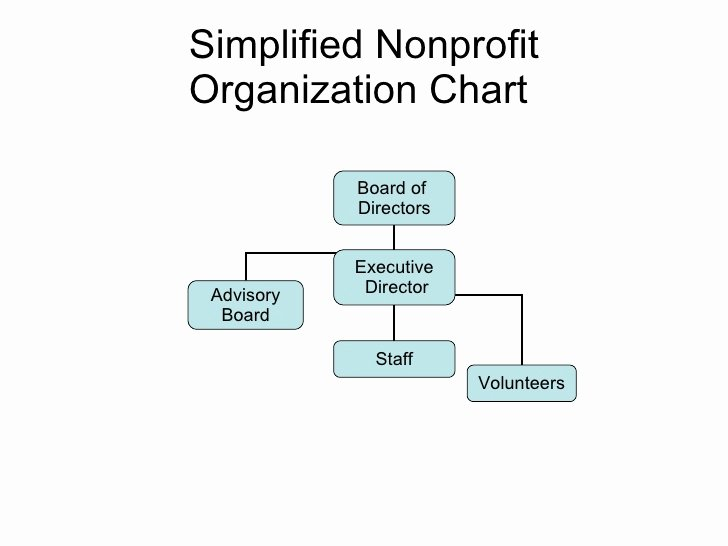 Simplified Nonprofit org Chart