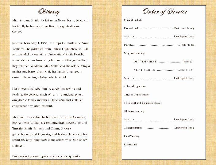Single Fold Cross Memorial Program Funeral Pamphlets