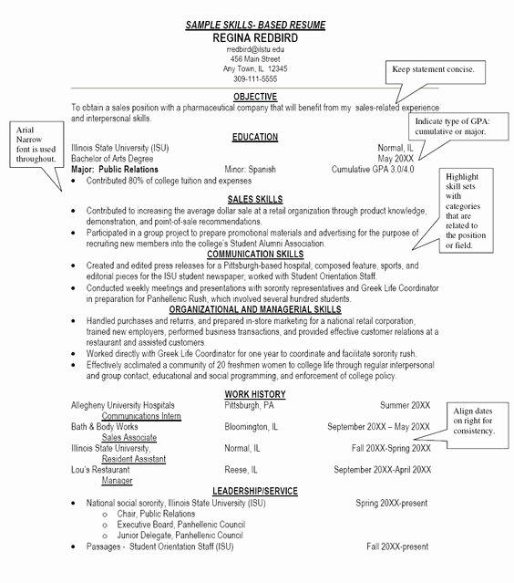 Skill Based Resume Template