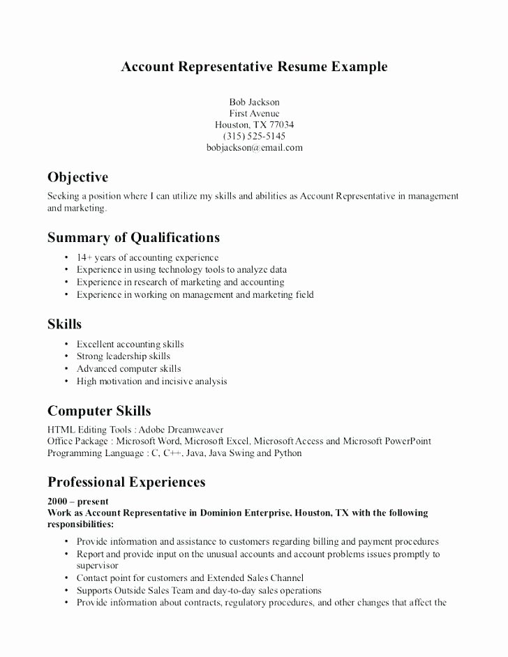 skill descriptions for resume