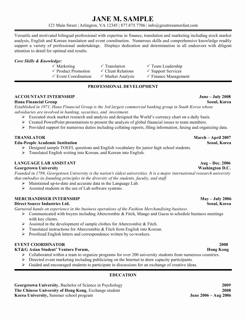 Skill Highlights to Put Resume – Perfect Resume format
