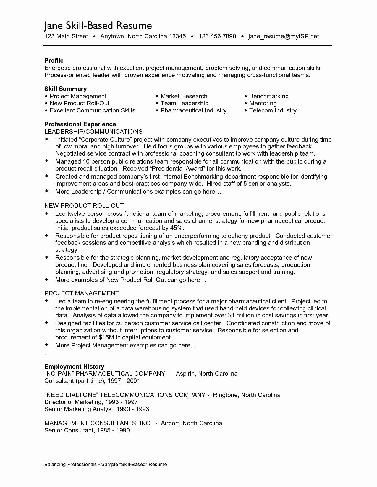 Skill Resume