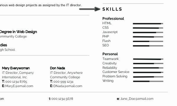 Skill Resume Template Modern Resume Skills Section Skill