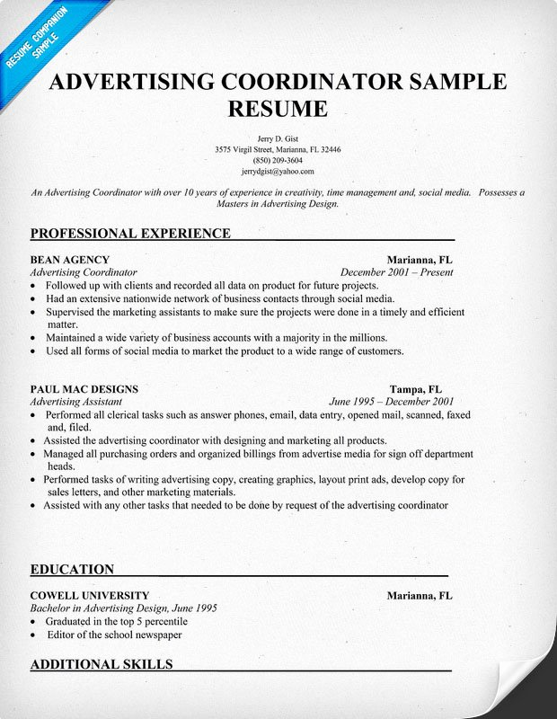 Skill Set Resume
