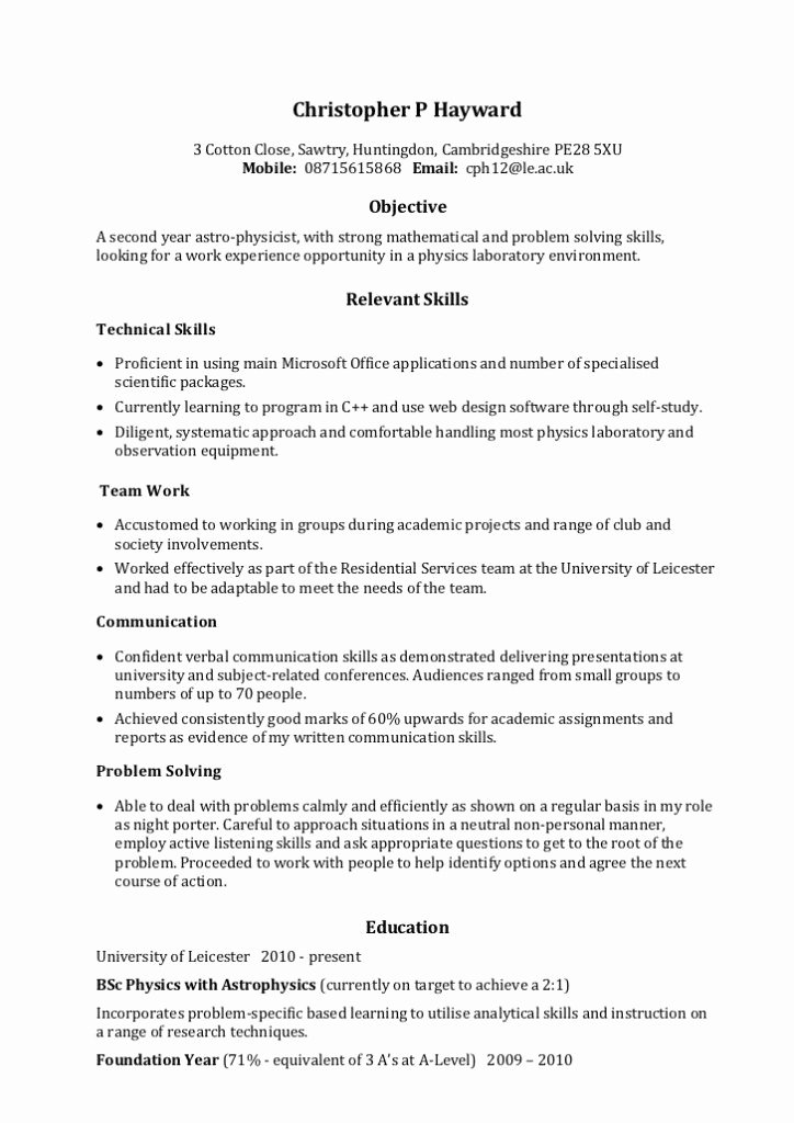 Skill Set Resume Examples Best Resume Gallery