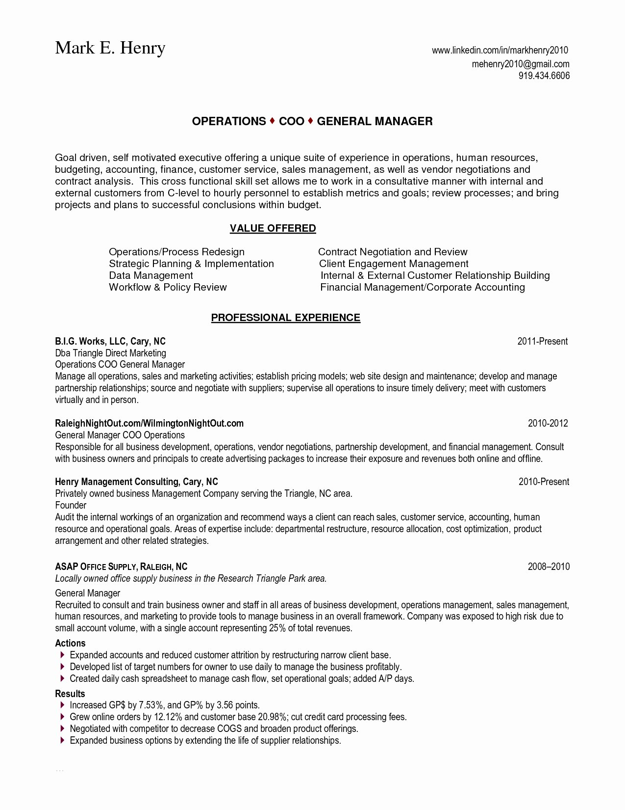 Skill Set Resume Sample