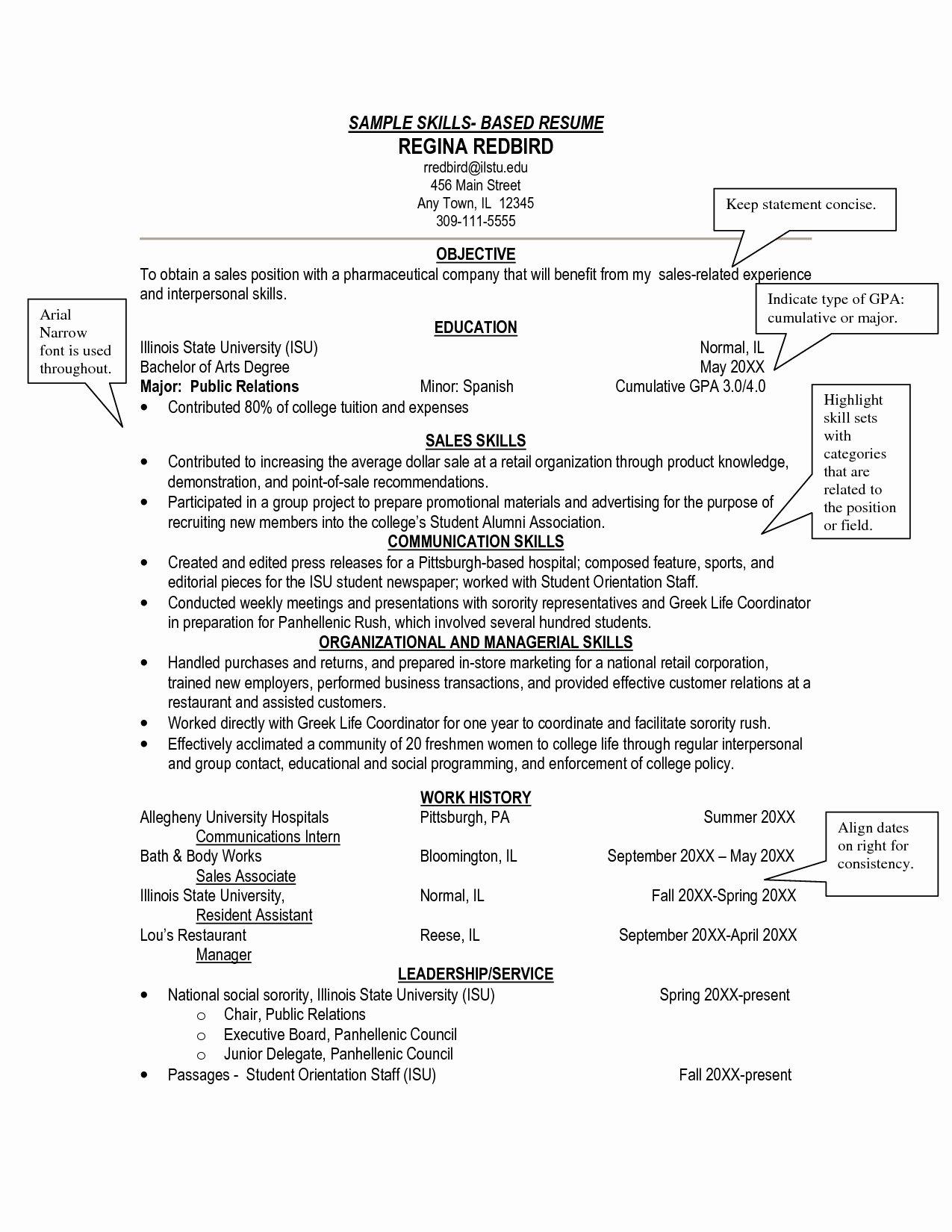 Skill Sets Resume