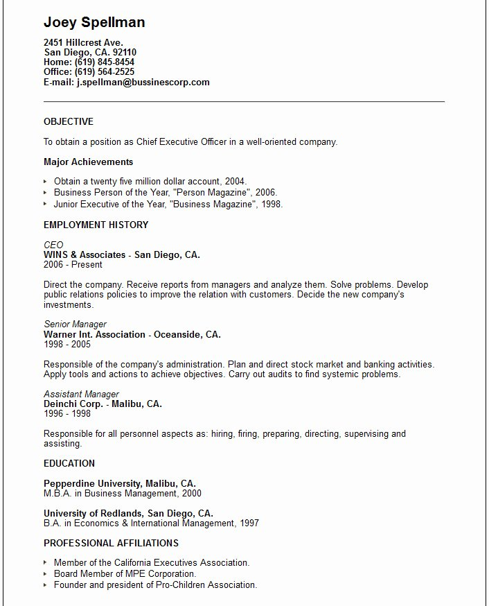 Skills and Abilities A Resume