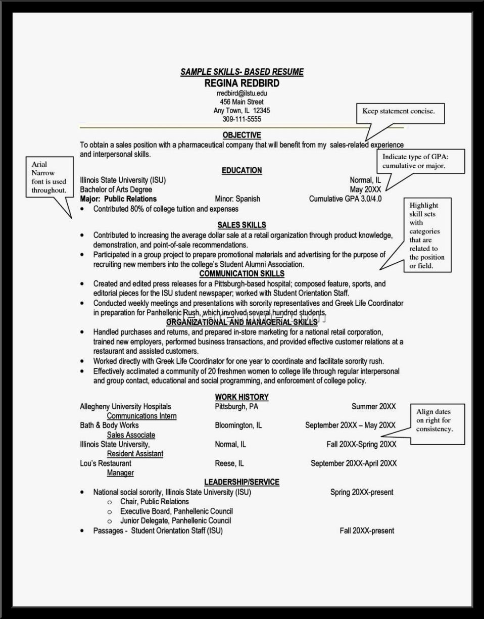 Skills Based Cv Example Resume Template