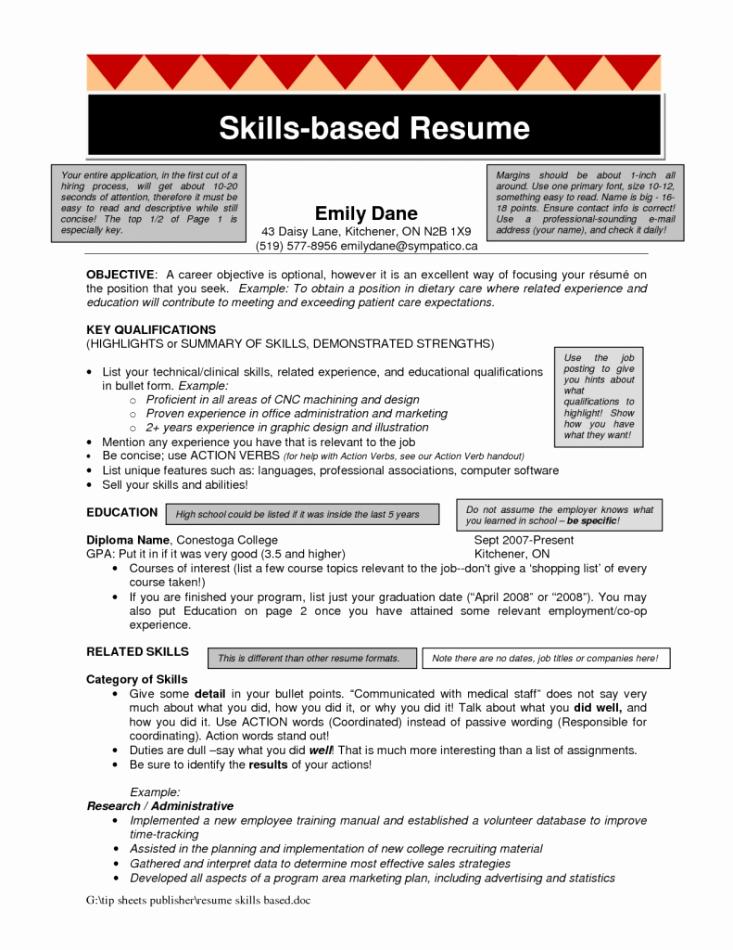 Skills Based Resume Template