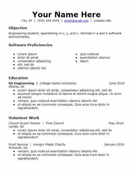 Skills Based Resume Templates Free to Download