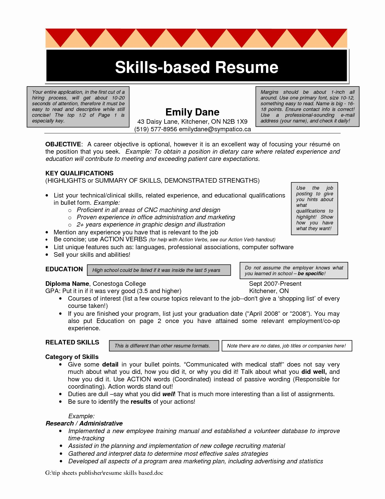 Skills Based Resume Templates Skills for Resume Resume