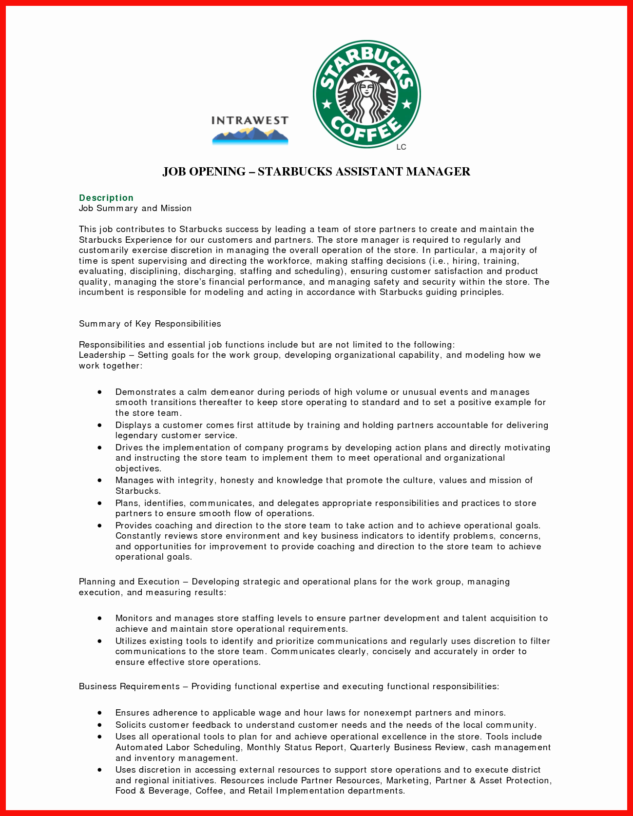 Skills for Barista Resume