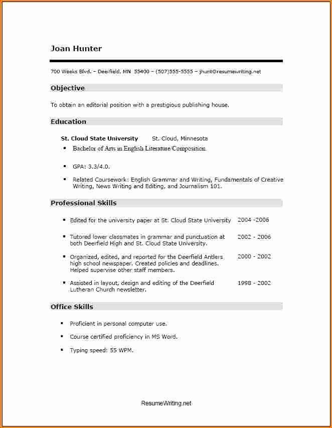 Skills Resume Template