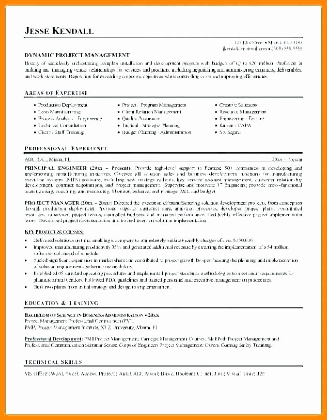 Sle Resume Construction Project Manager 28 Images Sle