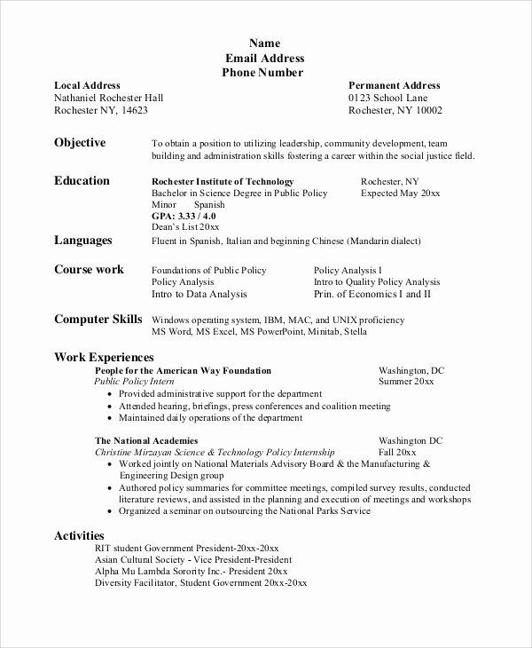 Sle Resume Objectives for Students 28 Images Sle