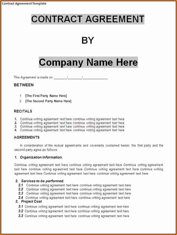 Small Business Agreement Template Adktrigirl