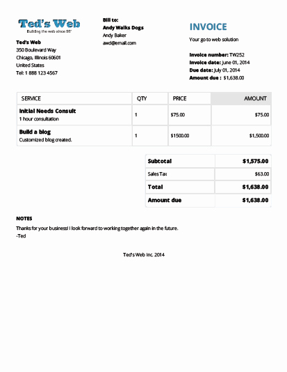 Small Business Invoice Templates Free Invoice Template
