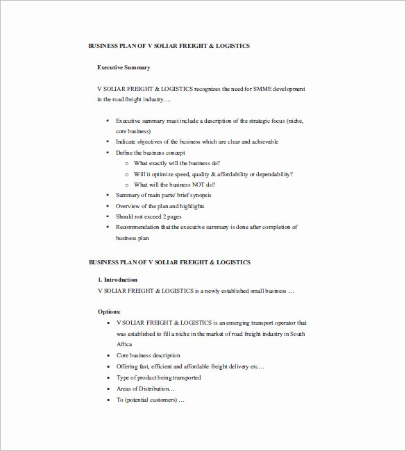Small Business Plan Template 17 Free Sample Example