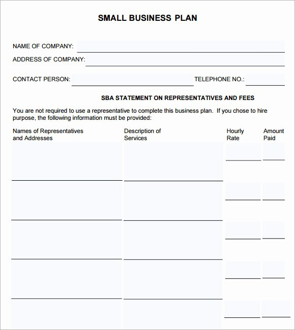 Small Business Plan Template 9 Download Free Documents