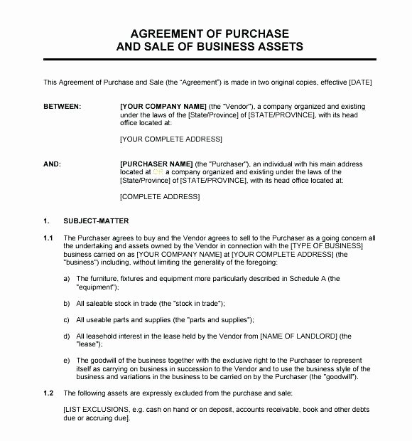 Small Business Purchase Agreement Useful Sales Contract