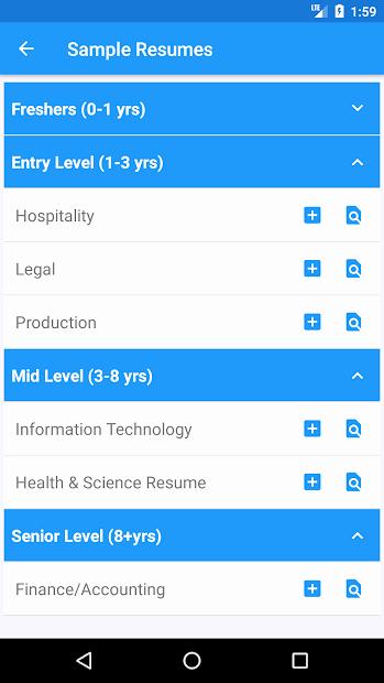 Smart Resume Builder Free Cv Maker & Templates Apps On
