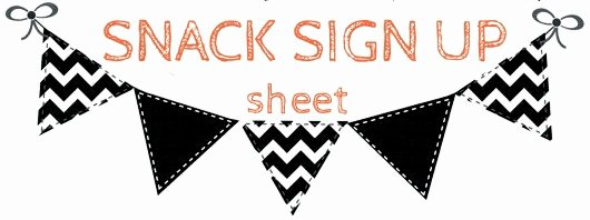 Snack Sign Up Sheet Template Word Frompo