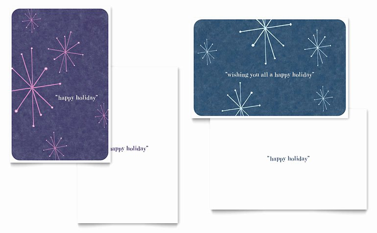 Snowflake Wishes Greeting Card Template Word & Publisher