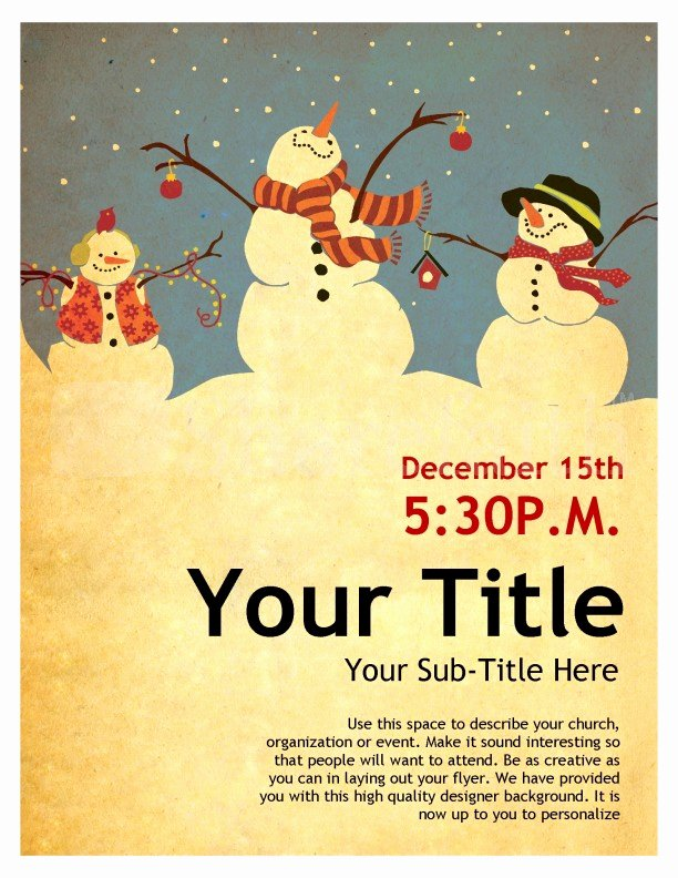 Snowman Christmas Flyer Template
