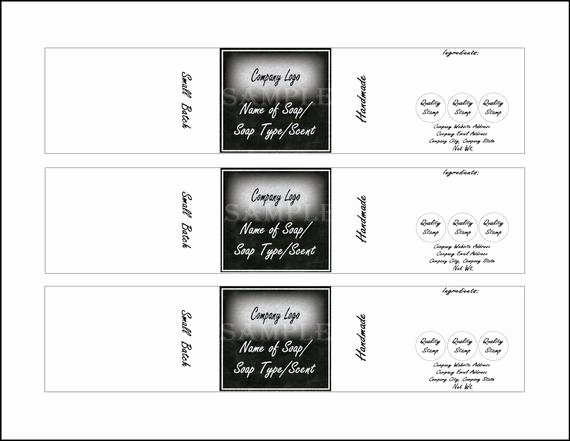 "Soap Label Template Printable 4 Files 4 Diy 2 X 10"" Blank Svg Editable Sheets Handmade Product"
