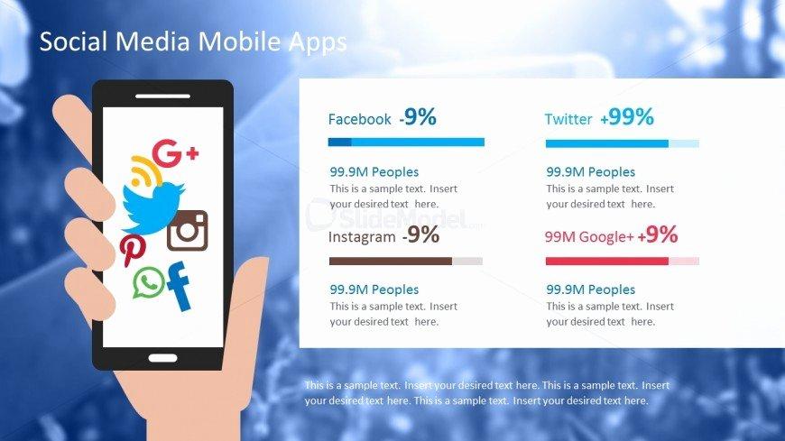 Social Media Apps Powerpoint Template Slidemodel