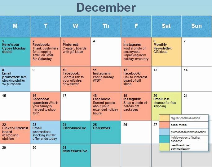 Social Media Calendar Ideas