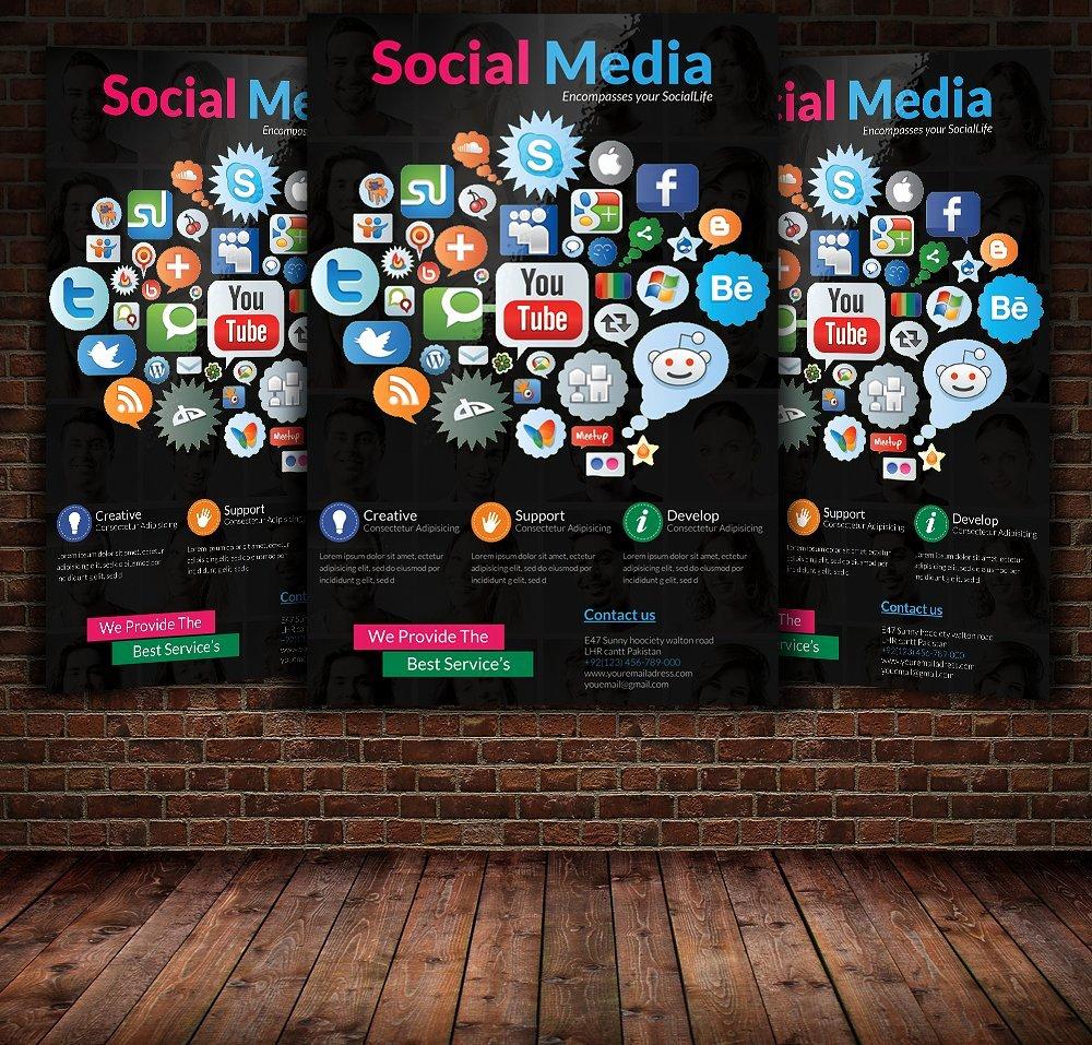 Social Media Flyer Template Flyer Templates Creative