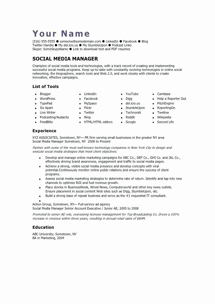 Social Media Marketing Job Description