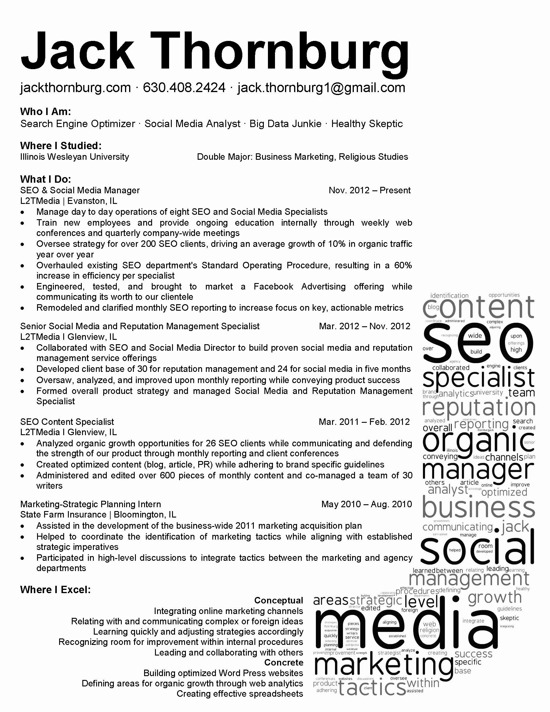 Social Media Marketing Manager Resume Sample Bongdaao