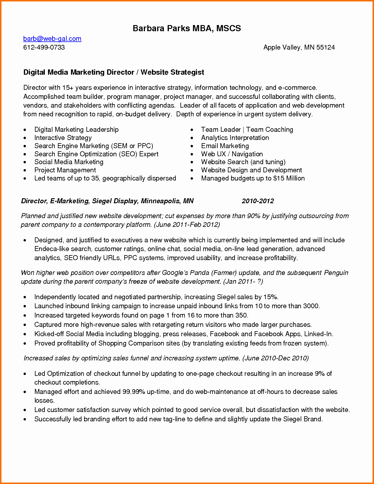 Social Media Marketing Manager Resume Sample Bongdaao